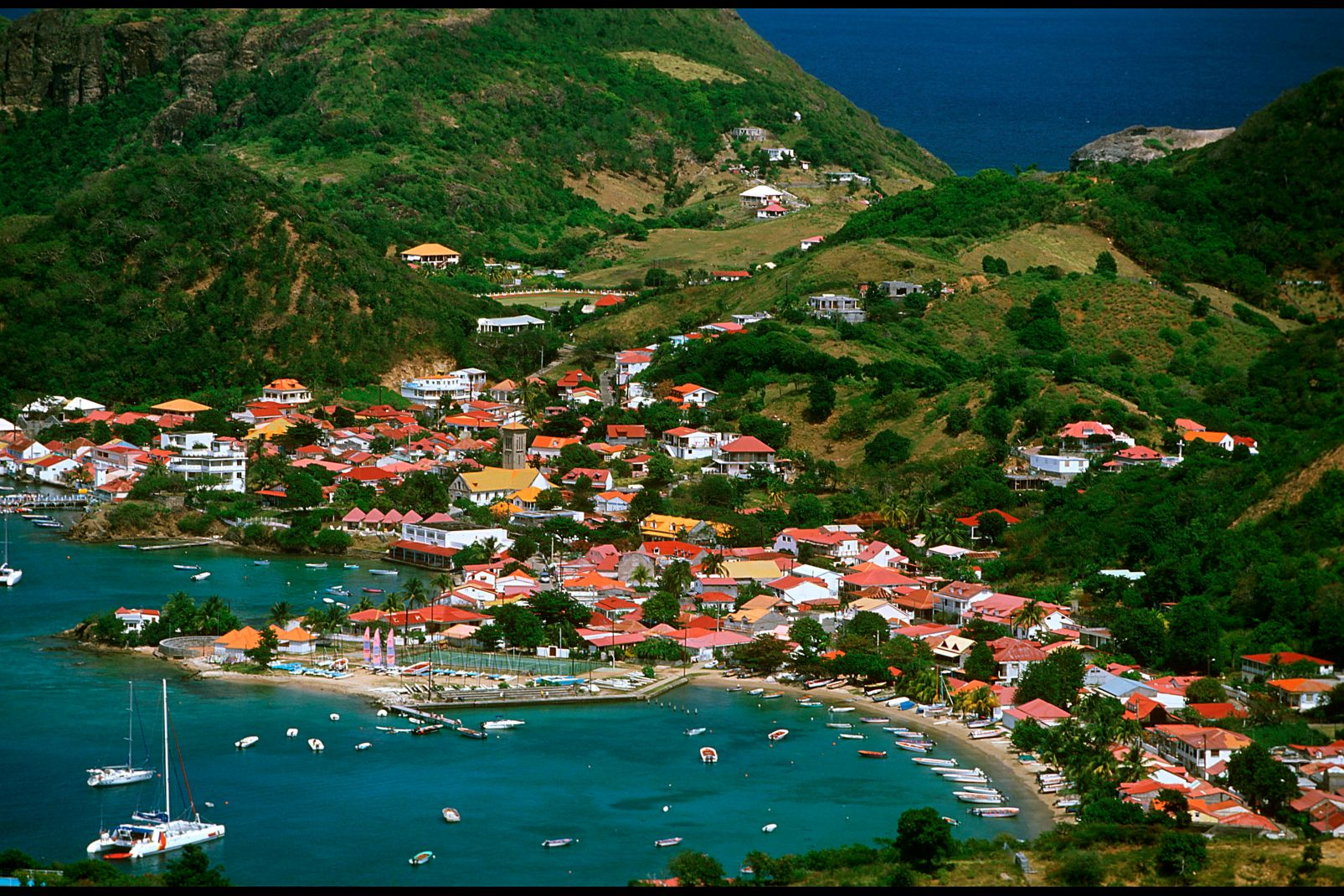 The islands of Guadeloupe