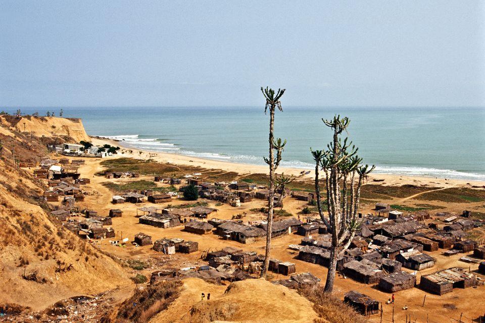 Afrique, Angola, cabo ledo, bengo, plage, village, ocean