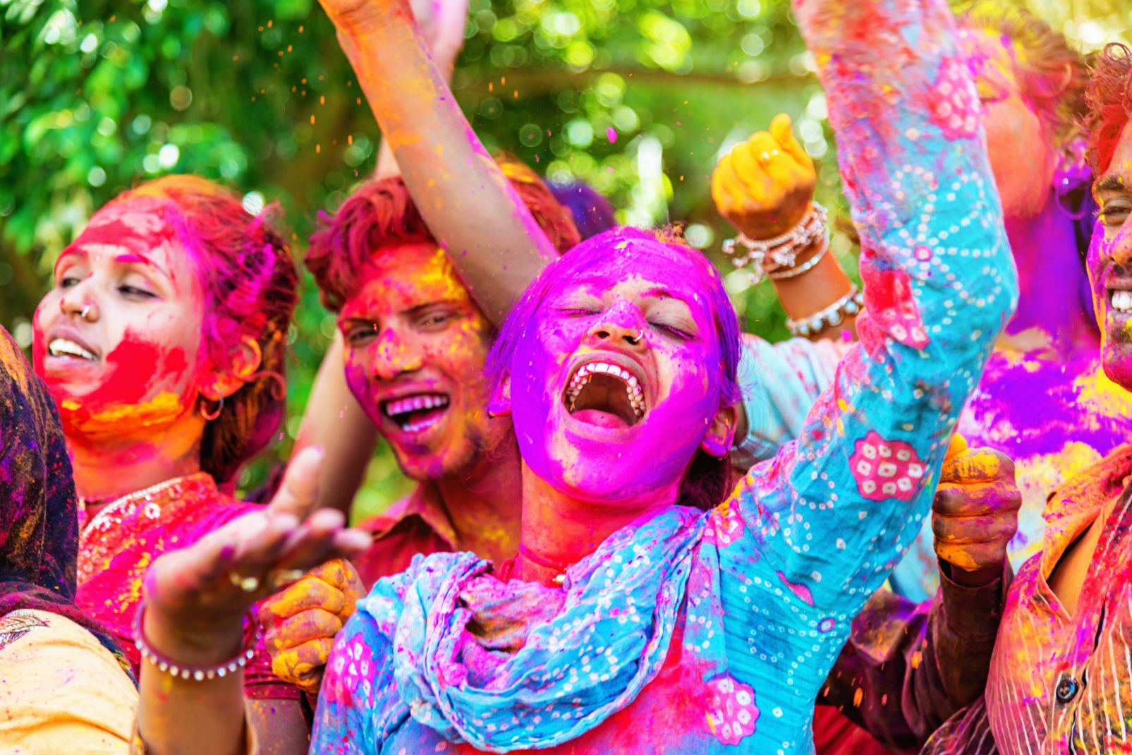 Holi, festival, inde, asie, rajasthan