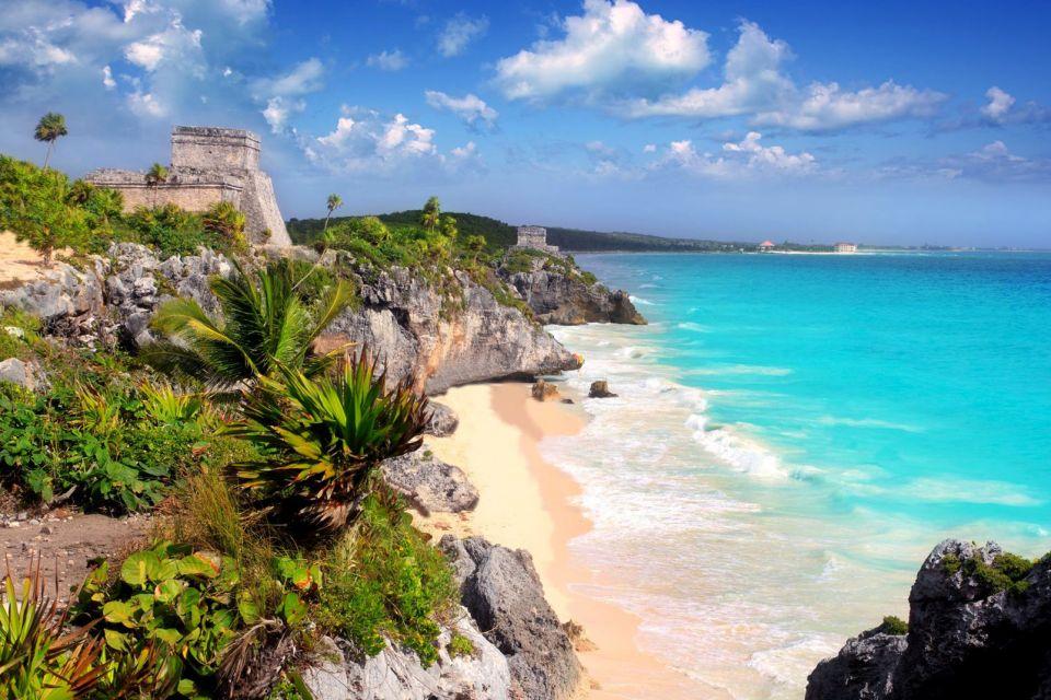 amerique, mexique, yucatan, temple, maya, ruine, tulum, caraïbe, mer
