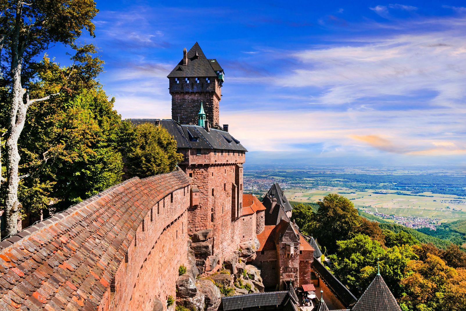 Alsace, France, Europe, Haut-Koenigsbourg, chateau, forteresse