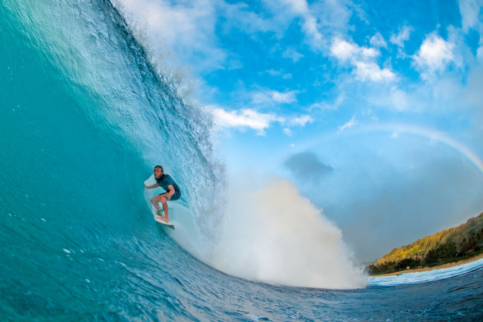 Amérique, USA, Etats-Unis, Hawaï, Hawaii, Oahu, surf, surfeuse, mer, bain, océan, sport, glisse