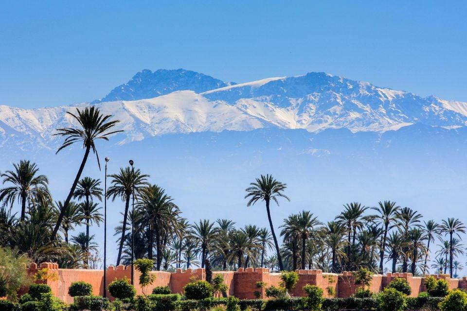 Maroc, Afrique, Maghreb, marrakech, ville, remparts, atlas, montagne