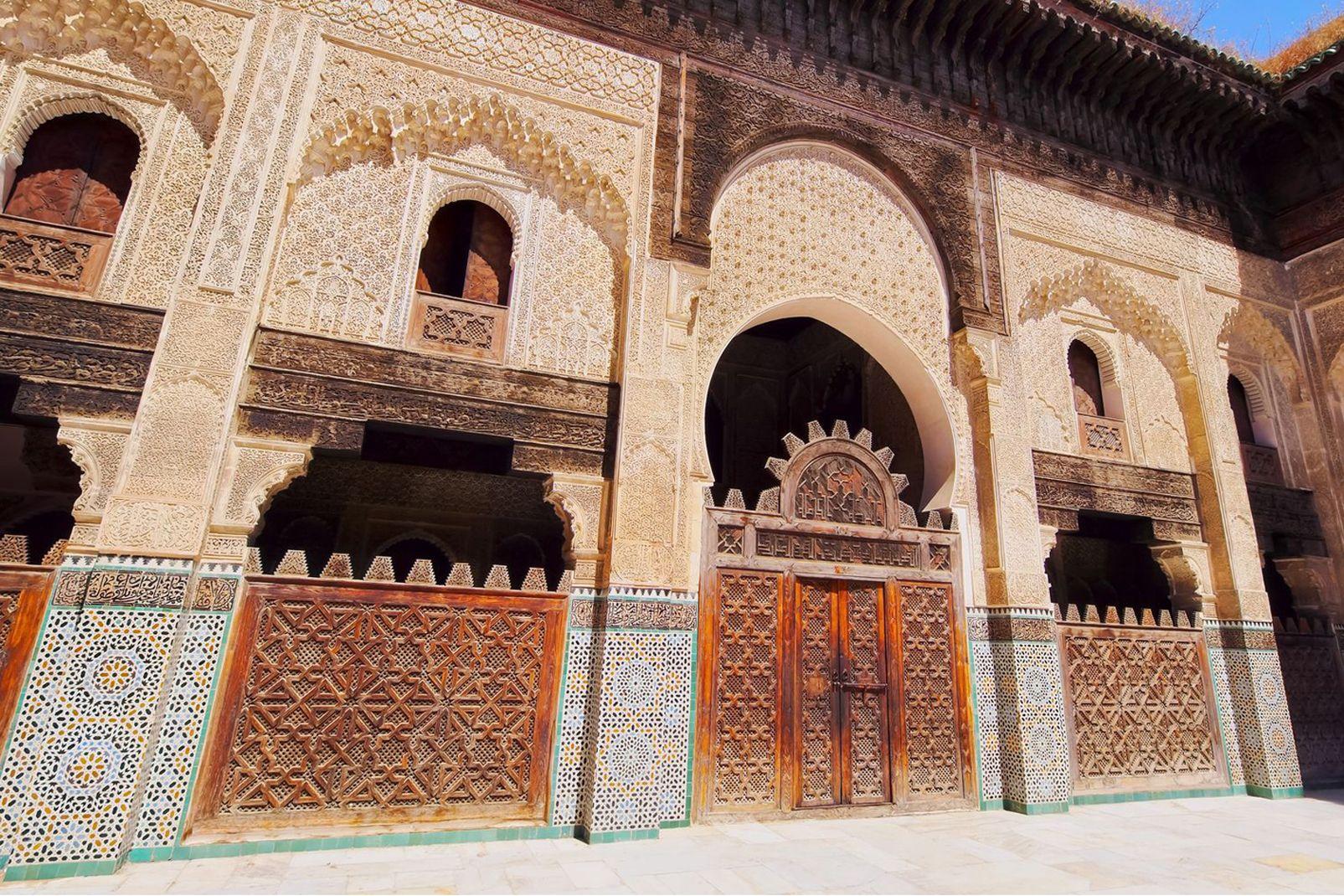 afrique, maroc, nord, bou, inania, madrasa, sultan, mérinide, abou, inan