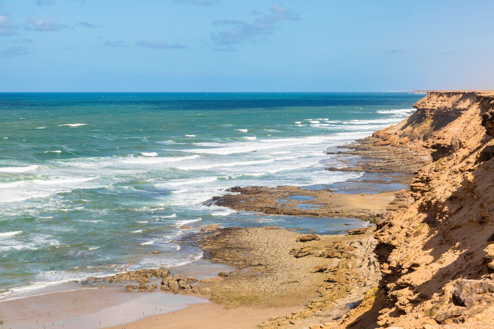 Maroc, afrique, sud, maghreb, côte, tan-tan, chbika, tan-tan, mer, océan, atlantique