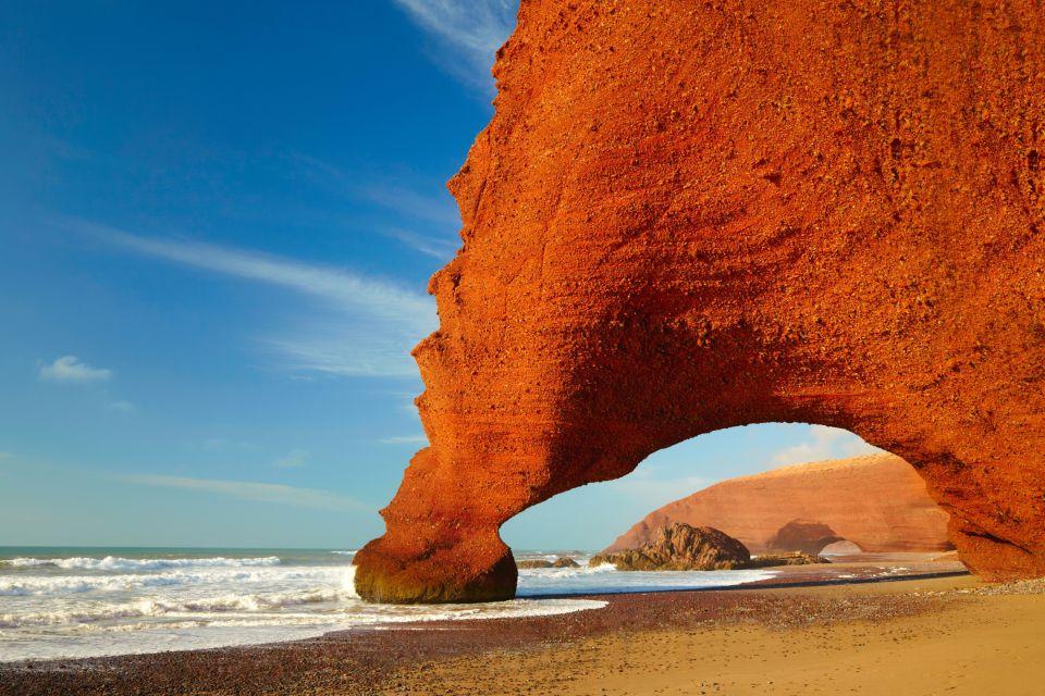 Maroc, afrique, sud, maghreb, falaise, océan, mer, atlantique, plage, lezgira