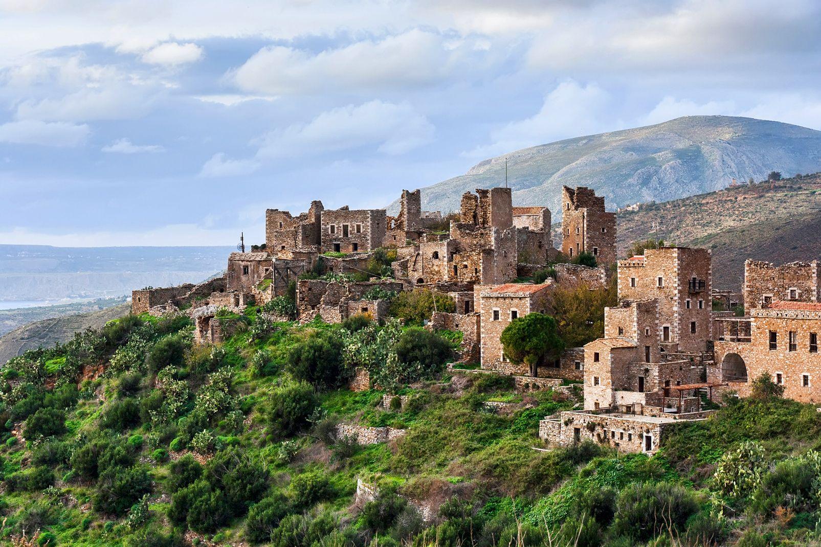 peloponnese, grèce, europe, village, historique, magne, péninsule
