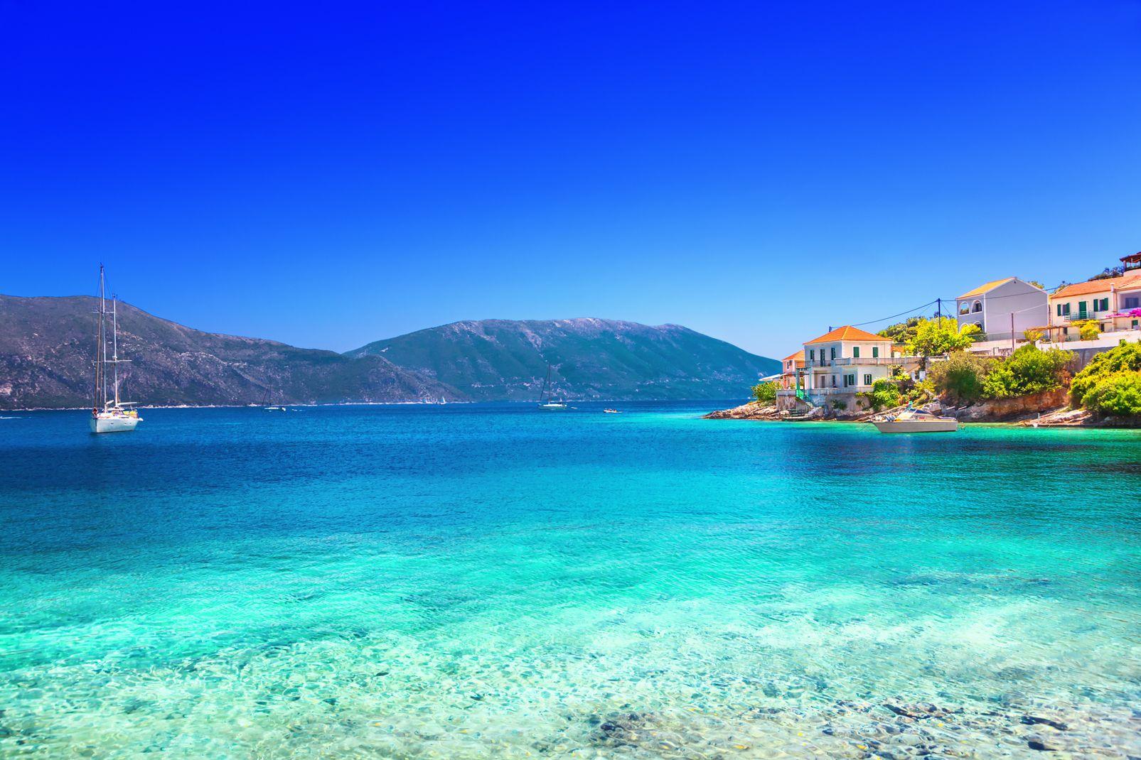 grece, iles, ioniennes, europe, village, kefalonia, fiskardo