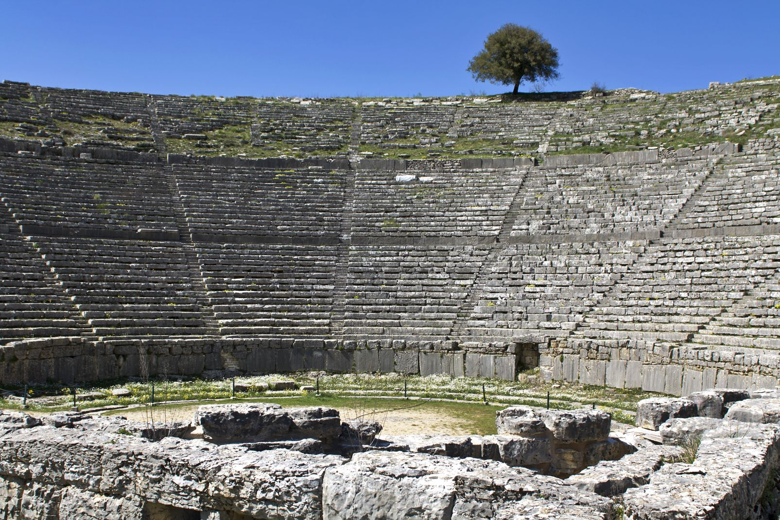 theatre, antique, dodoni, nord, grece