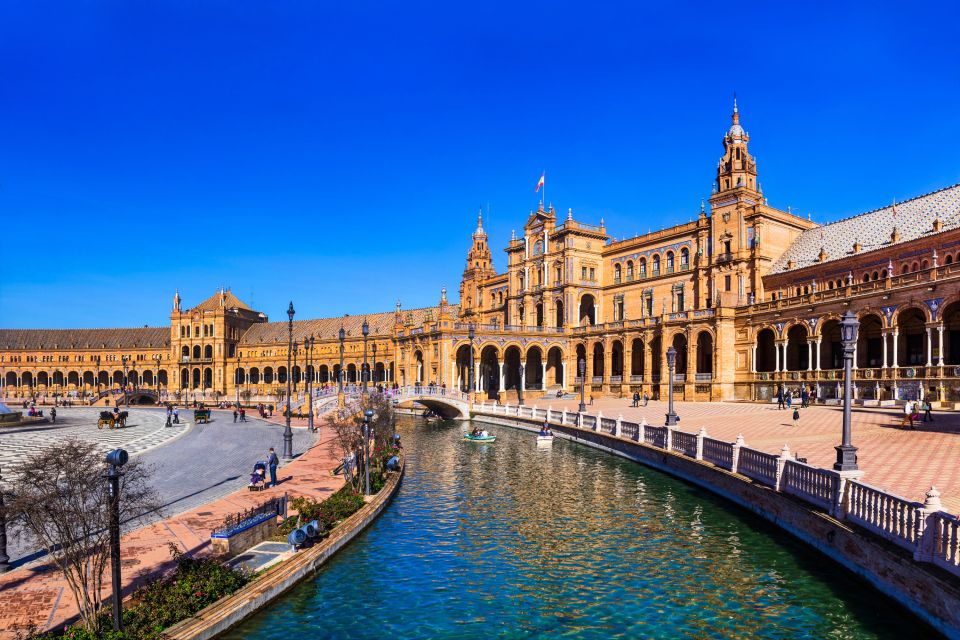 Andalousie, espagne, europe, séville, place d'espagne, place, azulero