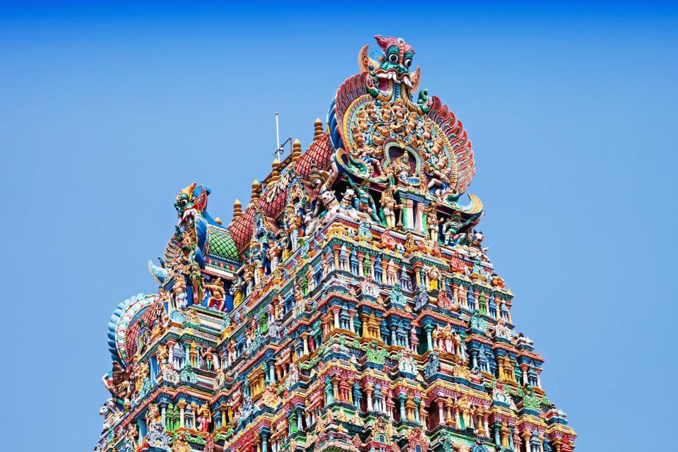 Asie, Inde, Tamil Nadu, Madurai, temple, Menakshi, religion, architecture,
