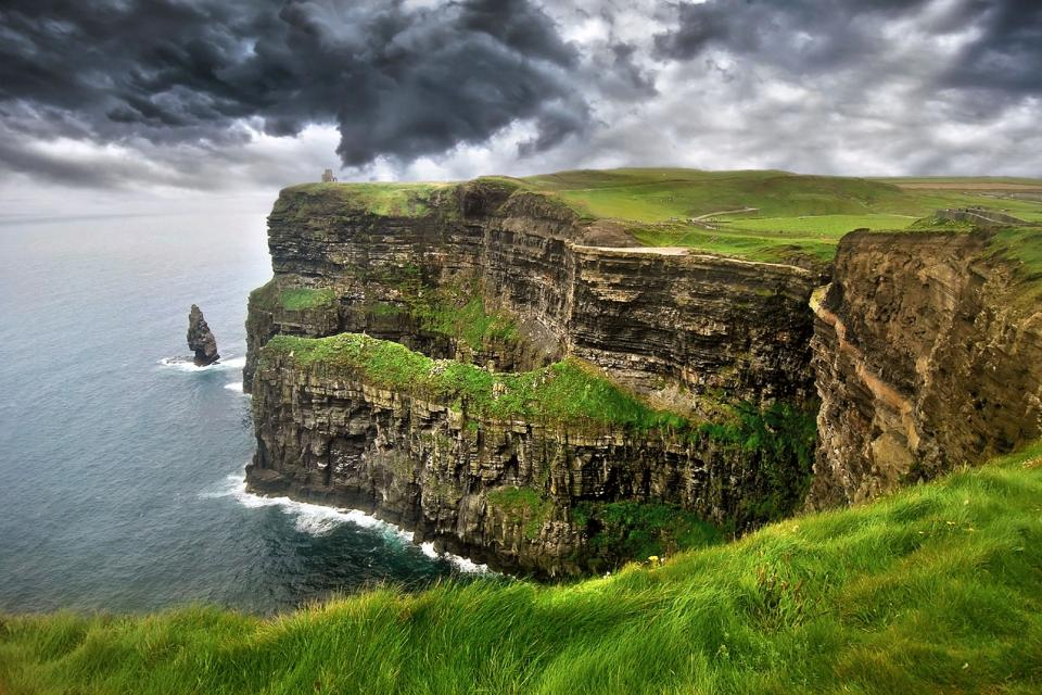 Europe, Irlande, Moher, falaise, île, mer, océan,