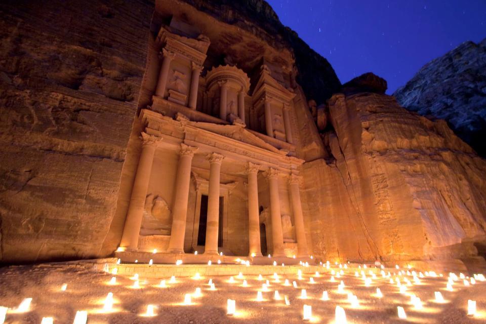 Moyen-Orient, Jordanie, Pétra, bougie,