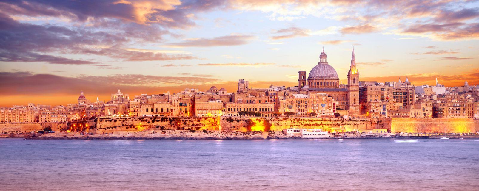 Europe, Malte, La Valette, ville, église, mer, architecture,