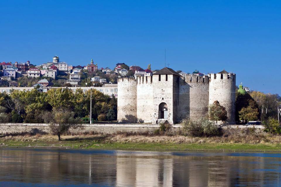 Europe, Moldavie, Soroca, forteresse, rivière, ville, arbre, immeuble,