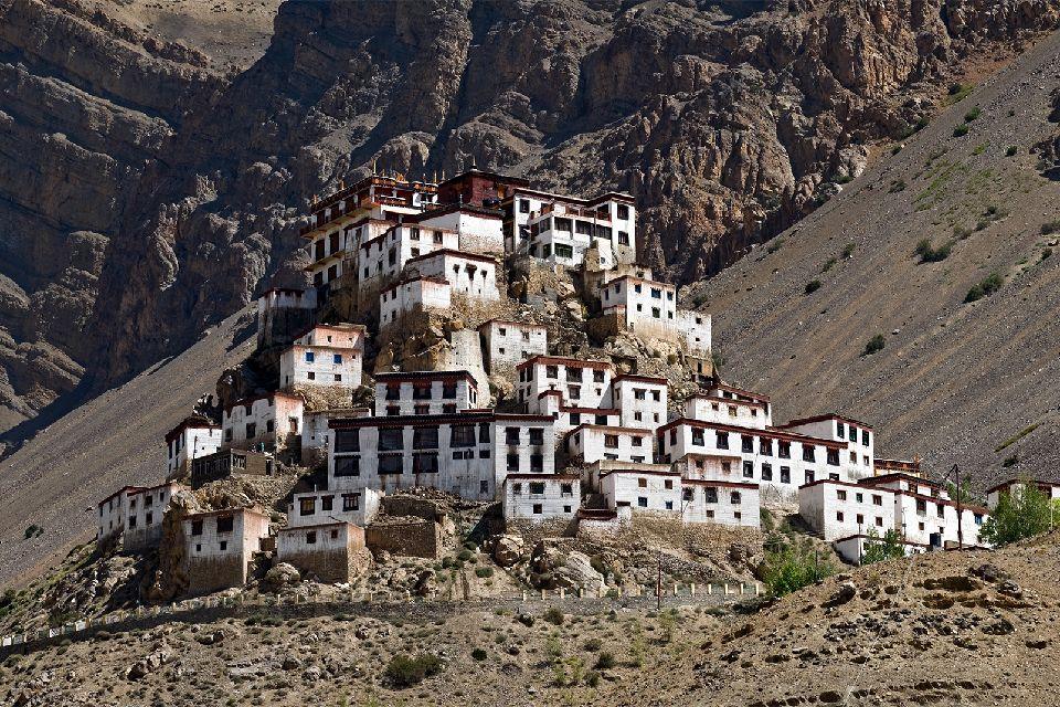 Asie, Népal, Ladakh, Chemdey Gompa, monastère, bouddhiste, maison, montagne,