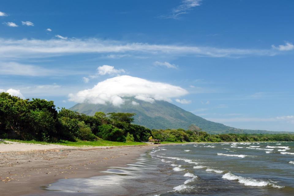Amérique, Amérique du Sud, Nicaragua, île, Ometepe, Santo Domingo, plage, volcan, Concepcion,