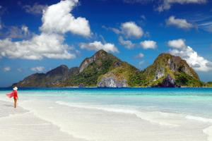 Asie, Philippines, Palawa, El Nido, plage, baignade, détente, montagne,