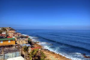 Caraïbes, Porto Rico, San Juan, Shanty, plage, ville, maison,