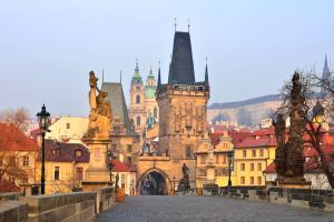 Europe, République tchèque, Prague, pont, Charles, Karluv Most, tour, Lesser, ville, bâtiment,
