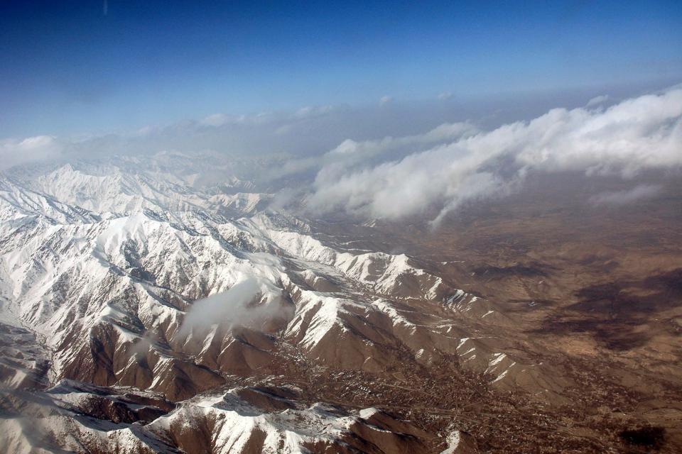 Asie, Afghanistan, montagne, neige, nuage,