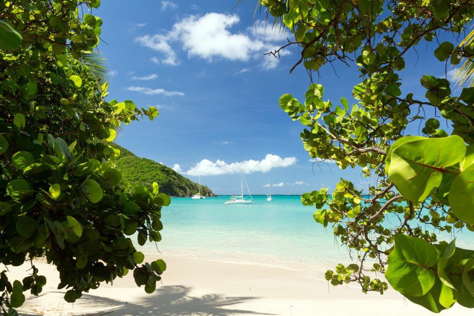 Caraïbes, Saint-Martin, Anse Marcel, voilier, bateau, plage, baignade,