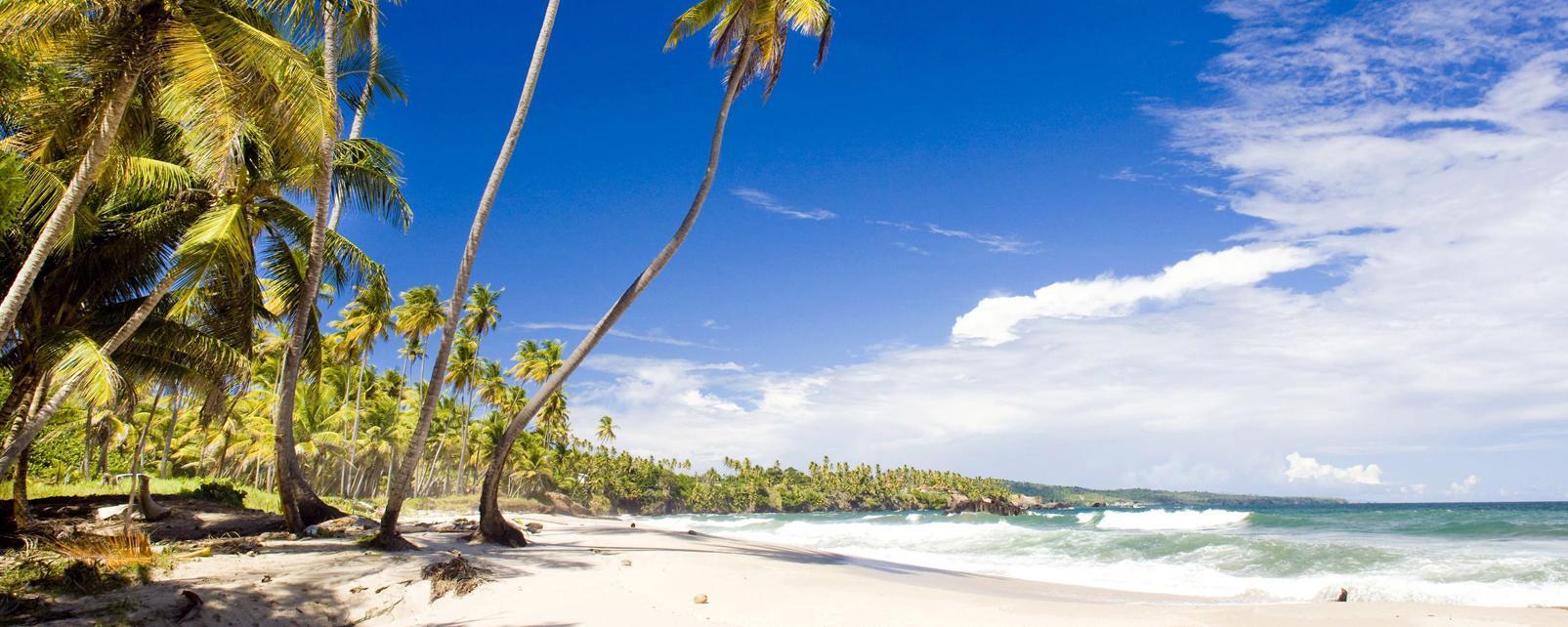 Caraïbes, Trinidad et Tobago, Trinidad, Cumana Bay, plage, baignade,