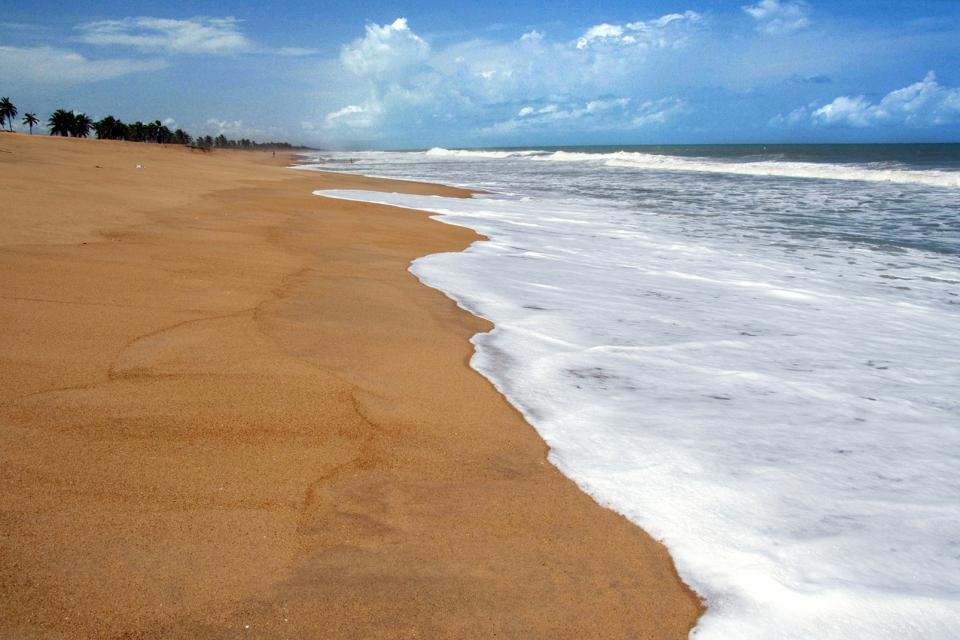 Afrique, Bénin, plage, baignade, sable,