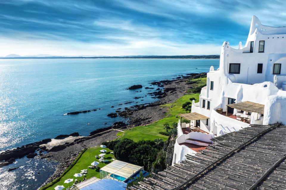 Amérique, Amérique du Sud, Uruguay, Punta Ballena, Casapueblo, mer, maison,