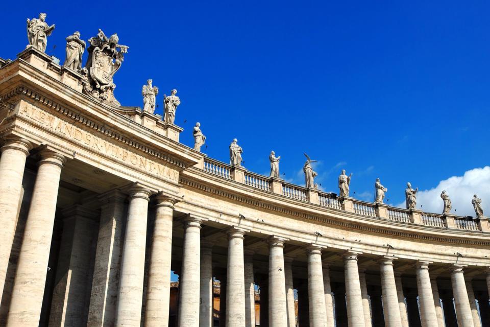 Europe, Vatican, Saint-Pierre, statue, colonne, religion, architecture,