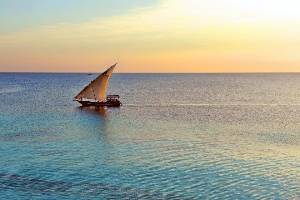 Afrique, Tanzanie, Zanzibar, voilier, océan, mer,