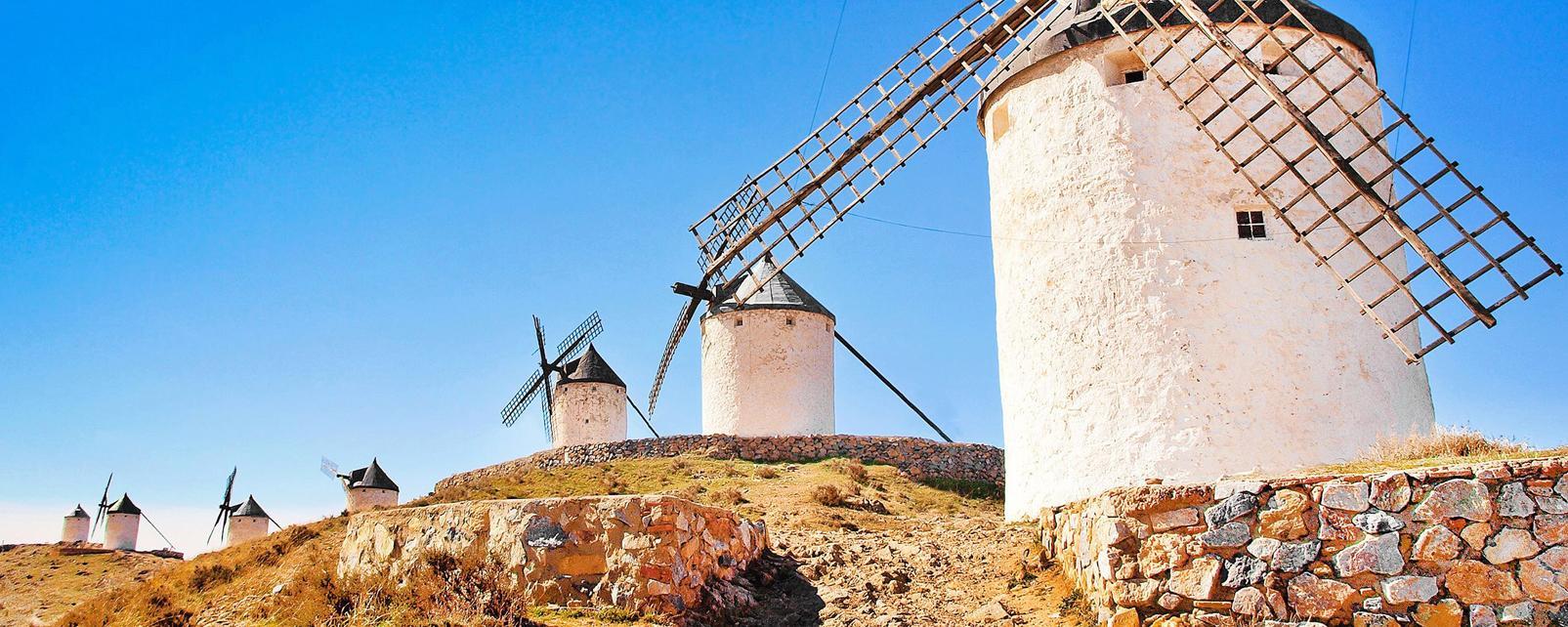 Europe, Espagne, Castille la Manche, Campo de Criptana, La Mancha, moulin, moulin à vent,
