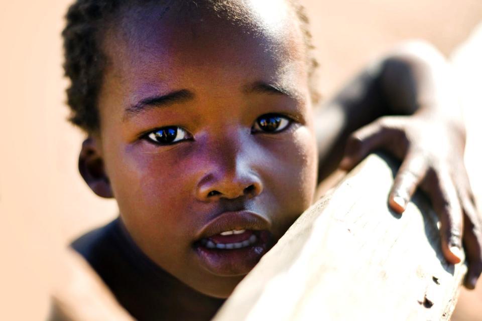 Afrique, Botswana, enfant, botswanais,