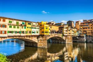 Europe, Italie, Toscane, Florence, Ponte Vecchio, fleuve, Arno, architecture, ciel,
