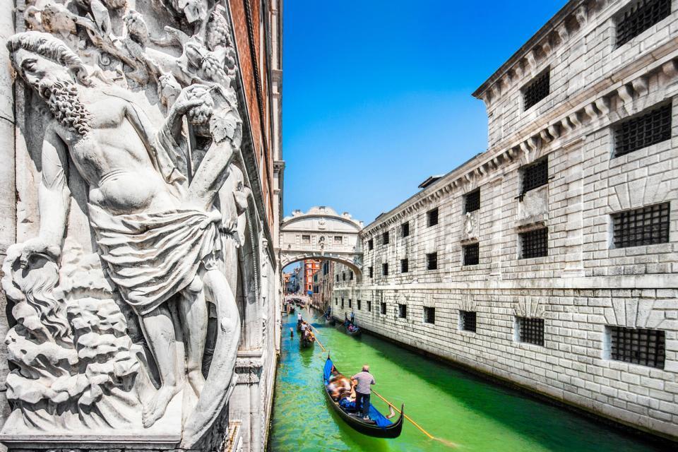 Europe, Italie, Vénétie, Venise, pont, Des Soupirs, gondole, Palais des Doges, canal, architecture,