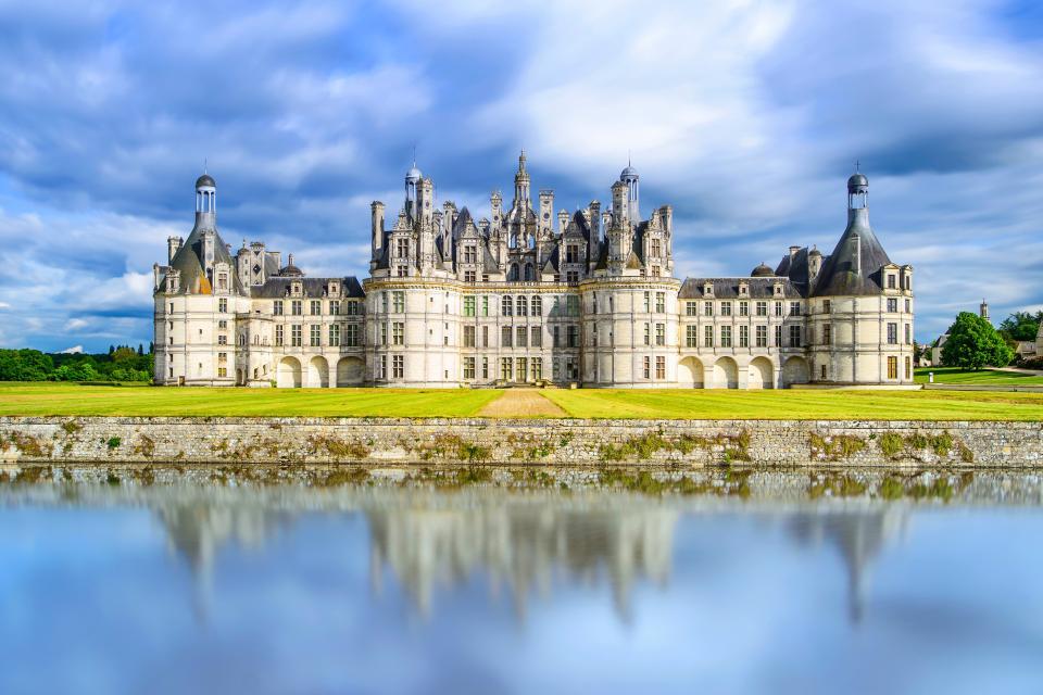 Europe, France, Centre, château, Chambord, lac, arbre, architecture,
