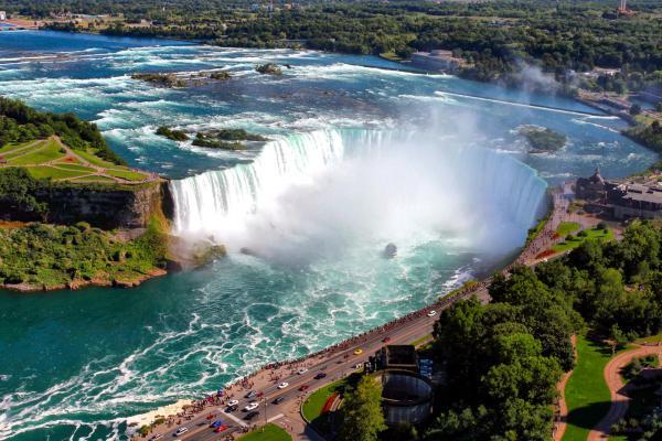 Amérique, Amérique du Nord, Ontario, Canada, niagara, cascade, amérique, amérique du nord, chute, arbre, voiture,