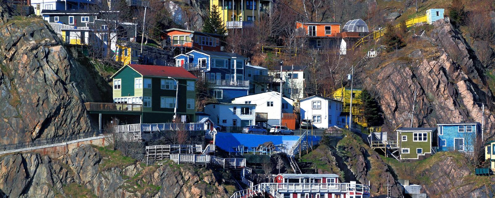 Amérique, Amérique du Nord, Canada, Terre-Neuve-et-Labrador, amérique, amérique du nord, canada, village, maison, mer, rocher,
