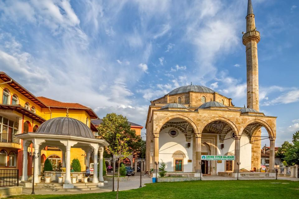 Europe, Kosovo, Pristina, ville, mosquée, Fatih, islam, religion, architecture,