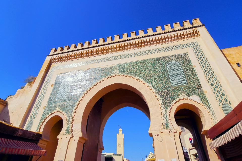 Afrique, Maroc, Fès, médina, Bab Boujelud, porte, mosquée, architecture,