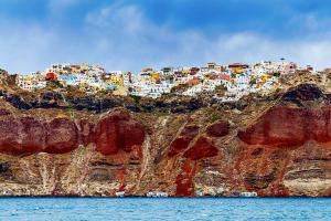 Europe, Grèce, Cyclades, Santorin, Oia, île, falaise, village, maison, mer,