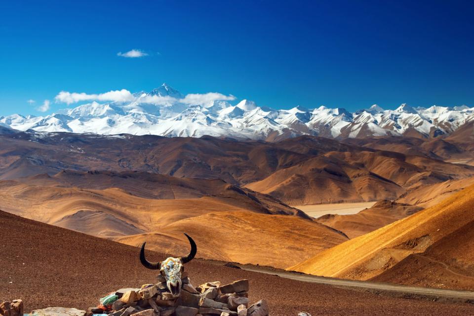 Asie, Chine,Tibet, mont, Everest, montagne,