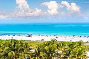 Amérique, Amérique du Nord, Floride, etats-unis, USA, amérique, amérique du nord, miami beach, plage, baignade, palmier, sable, ocean drive,
