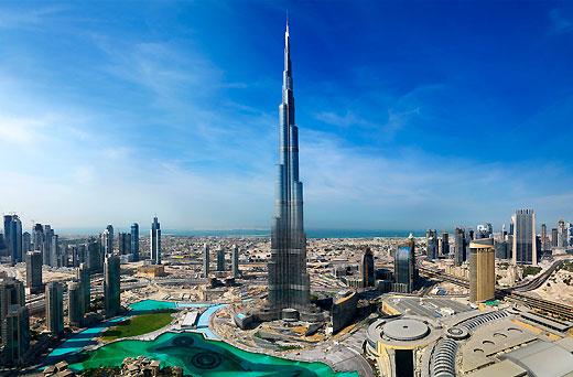 Burj khalifa plus grande tour au monde dubai plus pr s des toiles - Hauteur plus grande tour dubai ...