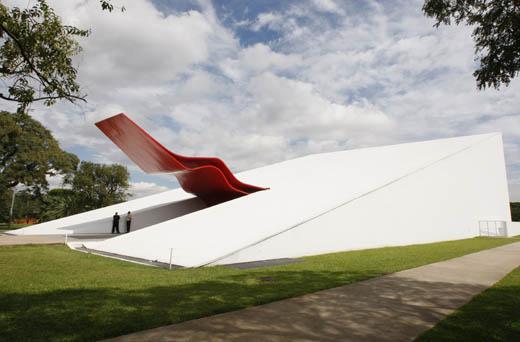 L'auditorium Ibirapuera, dernière œuvre de Niemeyer dans le parc