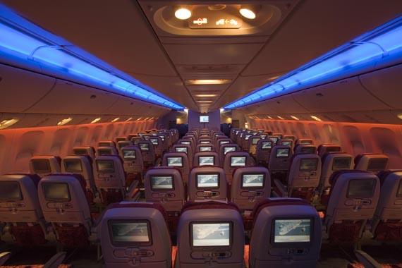Qatar airways et sa classe conomique qatar airways au for Interieur qatar airways
