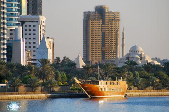 Das Stadtbild Sharjahs