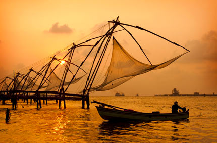 Crazy Chinese fishing nets at Fort Kochi