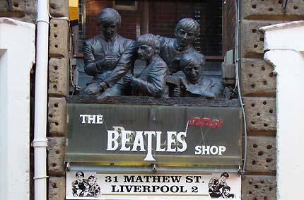 Las tiendas de los Beatles en Liverpool