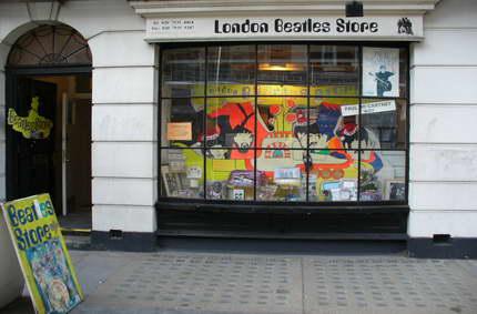 La tienda de los Beatles de Londres